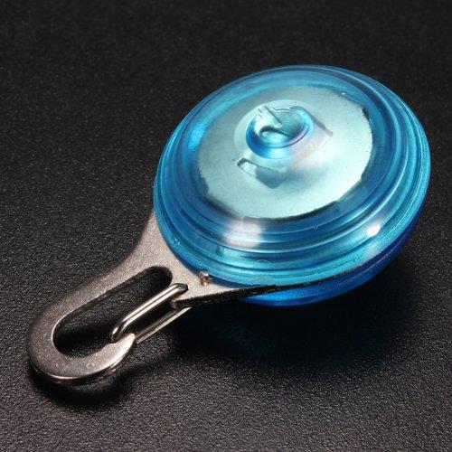 Dcolor Blaue Hund Sicherheit LED Clip Schnalle Nachtlicht blinkend runden Anhaenger, Halsband