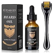 Ebeizi Beard Growth Kit, Beard Growth Oil Activator Serum, Beard Roller for Men, Derma Roller for Men, Beard Grooming Tools for Beard Rapid Growth and Thickening