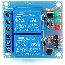 FAYM- 2 Channel 5V Low Level Trigger Relay Module for Arduino (Works with Official Arduino Boards)
