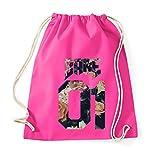 TRVPPY Baumwoll Turnbeutel Sportbeutel Modell Babe 01Farbe Pink