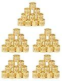 Golden Rule 50 Stück Gold Jumbo Geflecht Perlen Metall Manschetten Haar Dekoration Flechten Haar Schmuck