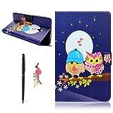 Meeter für Samsung Galaxy Tab A2 S 8.0 T380 / T385 hülle Smart Slim Schutzhülle Book Cover Stand Flip Sleep/Wake up Function - Paar Eule