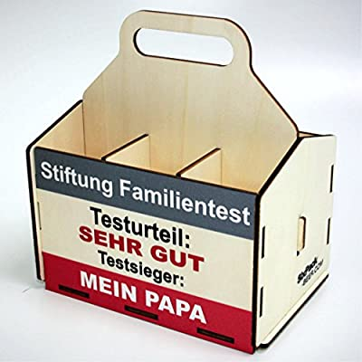 Bierträger aus Holz - Sixpack Männer - Grillen, Bier, Grillzubehör, 50. Geburtstag, 40. Geburtstag, 60. Geburtstag, Grillparty