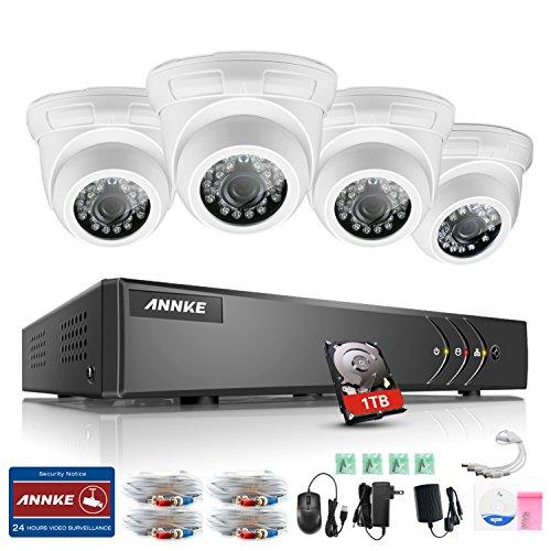 ANNKE-Sistema-de-Seguridad-4CH-1080P-Lite-TVI-DVR-con-4-Cmara-de-Vigilancia-Domo-IP66-InteriorExterior-Deteccin-de-Movimiento-Email-Alarma1TB-HDD
