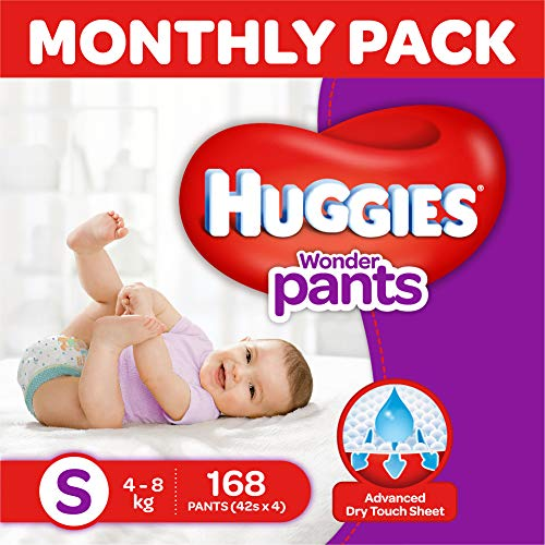 Huggies Wonder Pants Diapers Monthly Pack, Small (168 Count