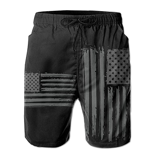 New pants Grunge American Flag Summer Casual Quick-Dry Board Shorts Swim Trunks Drawstring Striped Side Pockets Large (Striped-shorts Classic)