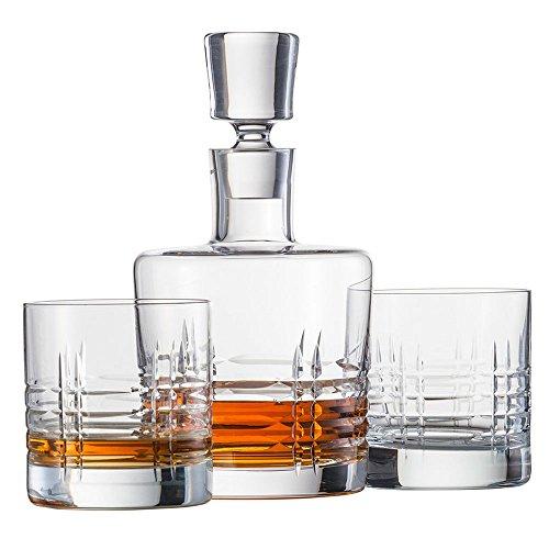 Schott Zwiesel 120143 Basic Bar Classic Whisky Set Bestehend aus 1 Karaffe und 2 Double Old Fashioned Gläsern Whisky Set, Kristall, Farblos, 22.5 x 13.0 x 23.0 cm
