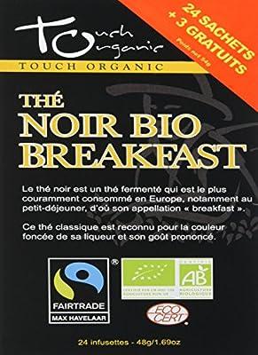 Touch Organic Thé Noir Breakfast 24 Sachets 48 g - Pack de 6