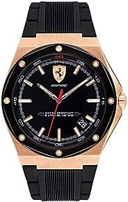 Ferrari Mens Quartz Watch, Analog Display and Silicone Strap 830553