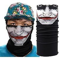 Pañuelo bandana multiuso Calavera Bandana multifunción, elástica, perfecta como braga para el cuello o para hacer yoga, senderismo, montar a caballo, montar en moto, etc., camuflaje (A)