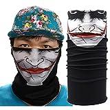Pañuelo bandana multiuso Calavera Bandana multifunción, elástica, perfecta como braga para el cuello o para hacer yoga, senderismo, montar a caballo, montar en moto, etc.,...