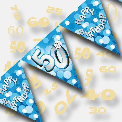 Blue Sparkle Party 4m Wimpelkette Flagge Banner 50. ()