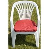 Coussin pour mobilier de jardin - Coussin arrondi pour fauteuil de jardin en plastique, coloris terre cuite
