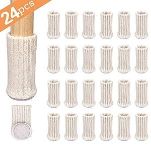 Ezprotekt Stuhlbeinschoner, Stuhlbeinsocken, passend für Durchmesser von 2,5 cm bis 5,1 cm, elastisch, dicke Unterseite…