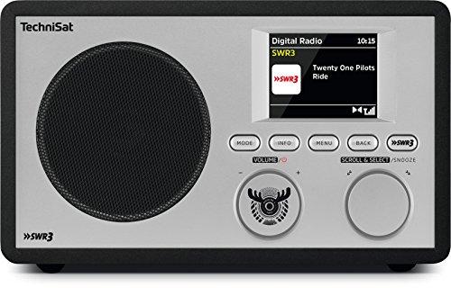 TechniSat Digitradio 303 SWR3-Edition Internetradio (Direktwahltaste SWR3, WLAN, LAN, DAB+, DAB, UKW, Bluetooth, Radiowecker, Wifi-Streamingfunktion) schwarz