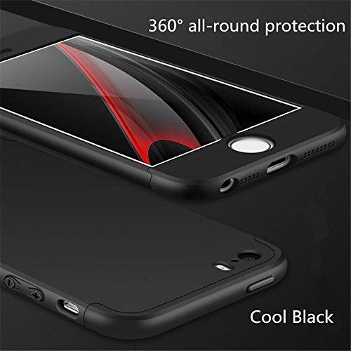 Coque pour iPhone SE/5/5S MUTOUREN haute qualité Soft TPU gel phone case Anti-choc Housse Etui 360 degrés Protection Anti Rayure phone Case Nouveau style- Rouge noir1 New Style Black 1