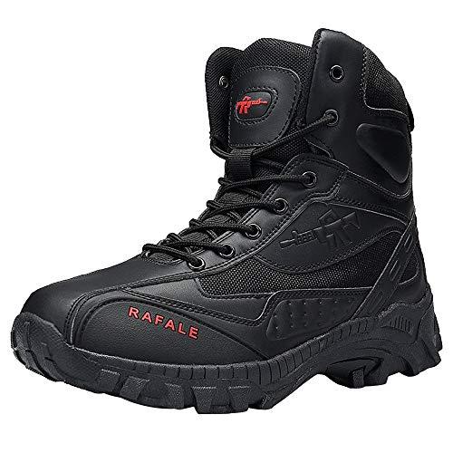 GongzhuMM Hommes Bottes Montantes Militaire Désert Tactique Combat Hautes Bottines Homme Hiver Chaussures de Travail 39-44 EU
