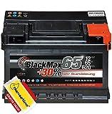 BlackMax Autobatterie 12V 65Ah PKW Batterie statt 60Ah 62Ah 63Ah inklusive Polfett