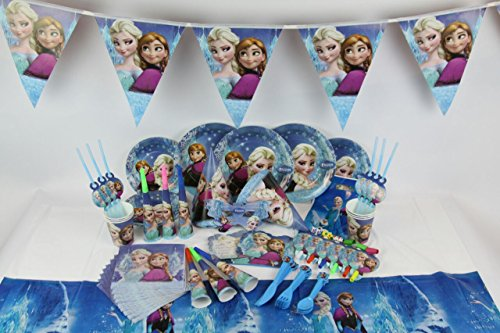Disney Frozen Party Supplies komplett Set Teller Becher Hüte Party Taschen und mehr
