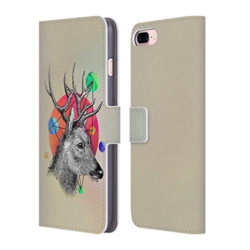 Offizielle Mark Ashkenazi Pferd Bild Tiere Brieftasche Handyhülle aus Leder für Apple iPhone 6 Plus / 6s Plus Hirsch
