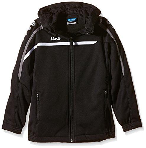 Jako Kinder Kapuzenjacke Performance Jacke, schwarz/Weiß/Grau, 152