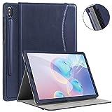 Ztotops Hülle für Samsung Galaxy Tab S6 10.5 2019, Premium Leder Geschäftshülle, Mit S Pen Halter, Auto Schlaf/Wach Funktion