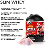 LA Muscle Slim Whey: Great tasting high grade protein with 3 proven triple action fat burners. Suitable for both men and women. Available in two mouth watering and easy mixing flavours. An amazing 50g of quality protein per serving. Controls appetite. Feel better, look better, great for lean muscular gains. Reduces water retention and gets rid of any bloating. Special Amazon Price Buy Now Before Prices Go Back Up. RRP £50, Lifetime guarantee.