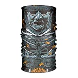 CrownLiny The Ancient Samurai 16-in-1 Magic Scarf,Face Mask,Fishing Mask,Thin Ski Mask,Neck Warmer Balaclava Bandana for Raves,Dust,Riding Bike,Motorcycle,Outdoor Activities