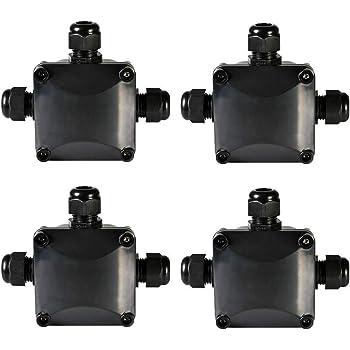 Aufeel 5 Pcs Junction Box IP68 Waterproof 3 Way Cable Connectors Outdoor Junction Box Cable Connector External Electrical Underground Cable Sleeve /Ø 5.5mm-10.5mm