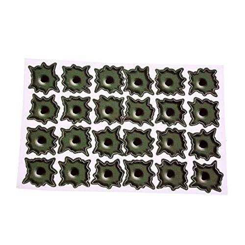SODIAL (R) Armee-Gruen Papier Schussloch 24 Loecher Auto Aufkleber Sticker