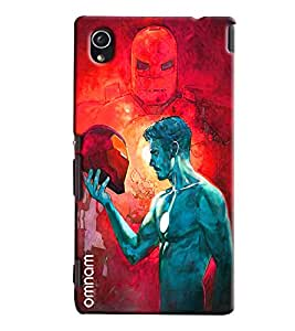 Omnam Iron Man Real Face Printed Designer Back Cover Case For Sony Xperia M4