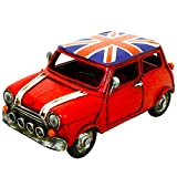 ASAB Vintage Retro Metall Garten Ornament London Bus Taxi Post Handy Box Mini Auto Mod Scooter Union Jack Dekorative Neuheit Modell Car Small