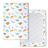 Flyish Wasserdicht Spannbettlaken Für Kinderbett 70 x 100 cm Laken aus Reiner Baumwolle für Babymatratze