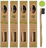 4er-Pack Bambus-Zahnbürste (klein)  Kleine Holzzahnbürste für Kinder und Erwachsene aus Bambus-Holz  Plastikfrei verpackte Holzzahnbürste mit kleinem Bürstenkopf  Kinderzahnbürste mit kleinem Kopf