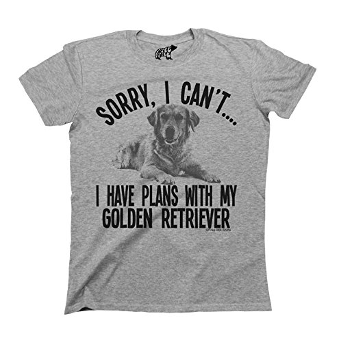 Sorry I Cant I Have Plans With My Golden Retriever Dog T-Shirt Uomo e Donna Unisex Fit
