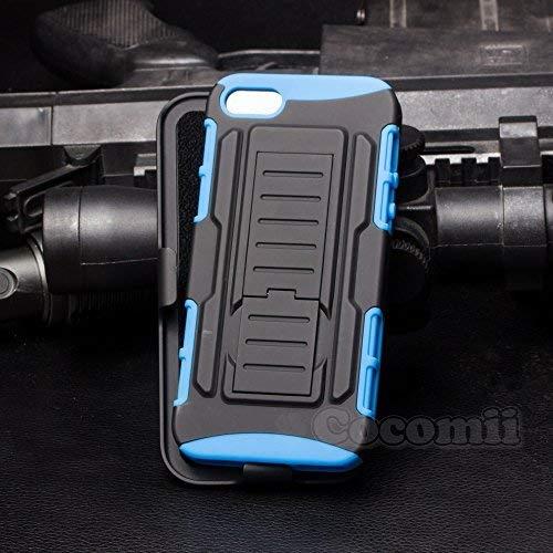 Cocomii Robot Armor iPhone SE/5S/5 Hülle [Strapazierfähig] Gürtelclip Ständer Stoßfest Gehäuse [Militärisch Verteidiger] Ganzkörper Case Schutzhülle for Apple iPhone SE/5S/5 (R.Blue)