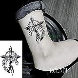 ljmljm 5pcs Autoadesivo Impermeabile del Tatuaggio Dragonfly Tatto Tatoo Tatouage Mano del Piede del Polso per Ragazza Donna Femmina Giallo Chiaro 10,5x6 cm