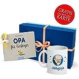 Opa werden Geschenk * Geschenk Set Opa mit Buch Opa für Einsteiger, Opa Tasse, Schnuller + GRATIS Glückwunschkarte * Opa geschenk – werdender Opa Geschenk – Geschenk für Opa - Geschenk Opa von MyOma