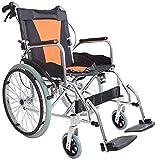 Wheelchair Aluminiumlegierung Transport Rollstühle Leichtgewicht-Folding Zurück tragbare Falten Hand Wagen UP Armlehne -