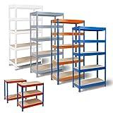 Rayonnage-Office-Marshal-pour-stockage-systme-denfichage-profondeur-60cm-capacit-de-charge-totale-875kg-tailles-et-couleurs-aux-choix-blanc-220x90x60cm