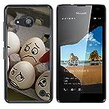 OB-star ( huevos Humor ) NOKIA Lumia 550 Impreso Colorido Protector Duro Espalda Funda Piel De Shell