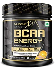MuscleXP BCAA Energy With Electrolyte Blend Caffeine Orang