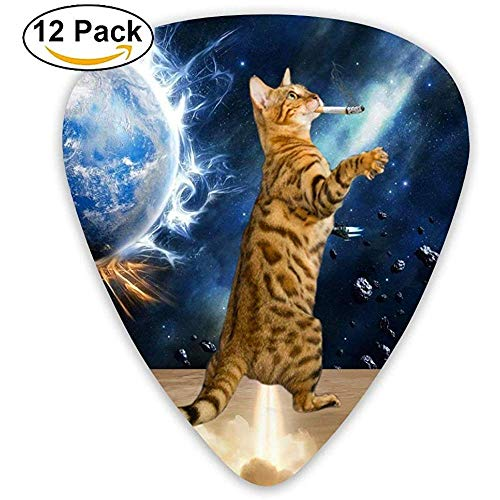 Die rauchende Katze, die von seinem Furz-Plektrum 12er-Pack aus der Galaxis geblasen wurde