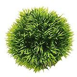Amesii acquario rotondo palla di erba artificiale in plastica verde acqua pianta Fish Tank Decor Yellow S