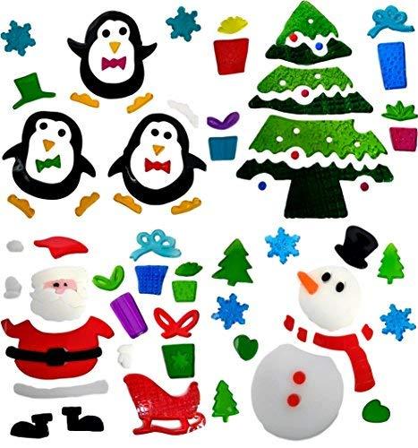 4 Hojas Pegatinas Decorativas Navidad Ventana