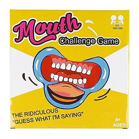 SainSmart Jr. Speak Out Game Mund öffner Party Scherzartikel C-förmigen Wange Retraktoren, Mundöffner für Phrase Sprechen Kartenspiel, 5