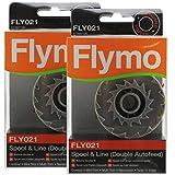 Flymo Original Twist 'N' lato decespugliatore Bobina & doppia linea Auto alimentazione (Confezione da 2, FLY021)