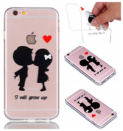 Coque Cover iphone 6 Plus iphone 6S Plus, Cozy Hut iphone 6 Plus/ 6S Plus Coque Housse Etui anti chocs Back Cover Bumper Case Anti Scratch Shock Absorption for iphone 6 Plus/ 6S Plus Souple Silicone E enfance