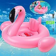 AMENON Bebé Inflable Flamenco Anillo Flotador de natación Anillo Nadador de bebé Asiento de Flotador Juguetes