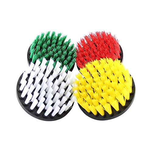 CRRE Pulp Power Washer Reinigungsbürste Badreiniger Kombinationswerkzeug - Bohrmaschine Autowäsche Reinigungsbürste Autoreifen-Zubehör (Farbmischung)